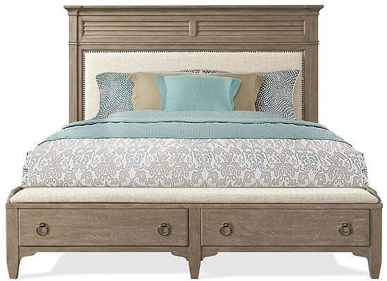 Myra Upholstered Storage Bed (59474-59475-59473) by Riverside furniture