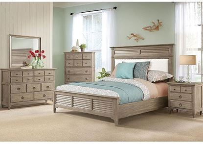 Myra Bedroom Collection  with Upholstered Bed in Natural finish by Riverside furniture