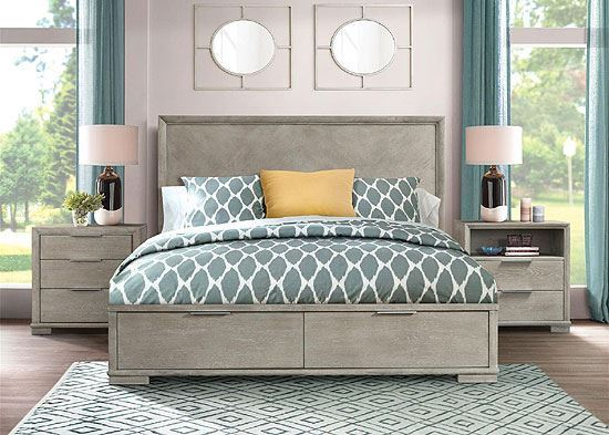 Remington Bedroom Collection with Panel Storage Bed by Riverside furniture