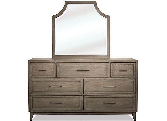 Vogue Seven Drawer Dresser - 46162 with Arch Mirror by Riverside furniture
