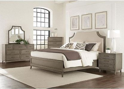 Vogue Bedroom Collection with Upholstered bed by Riverside furniture