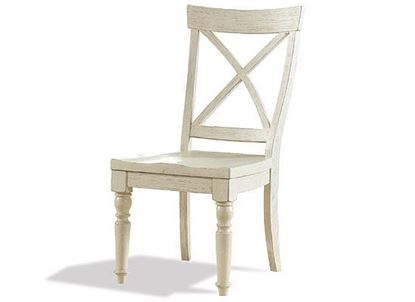 Aberdeen X-back White Side Chair - 21258 by Riverside furniture