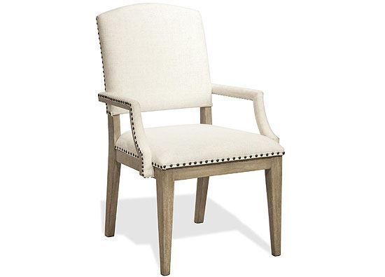 Myra Upholstered Dining Arm Chair - 59453 by Riverside furniture