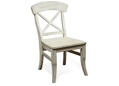 Regan X-Back Side Chair (27357-Farmhouse White) by Riverside furniture