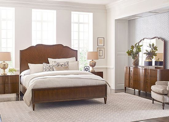 Vantage Bedroom Collection with panel bed by American Drew furniture