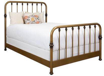 Wesley Allen Artem Bed - 1300 with Aged Brass frame
