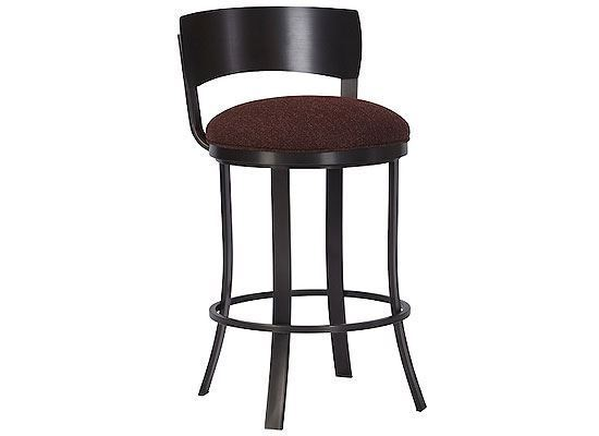Wesley Allen Baltimore Black Stainless Steel Bar Stool (BSS507H26S)