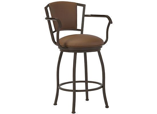 Wesley Allen Boise Bar Stool with Arms (B517H26AS)