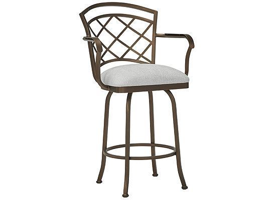 Wesley Allen Boston Bar Stool with Arms (B515H26AS)