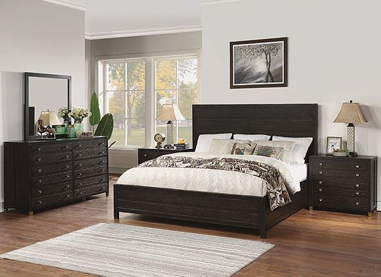 Cologne Bedroom Collection with Panel Bed from Flexsteel furniture