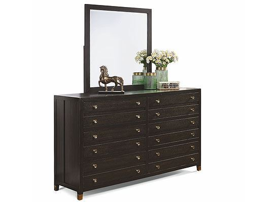 Cologne Dresser W1080-860 with mirror from Flexsteel furniture