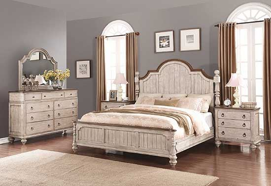 Plymouth Bedroom Collection with Poster Bed by Flexsteel furniture