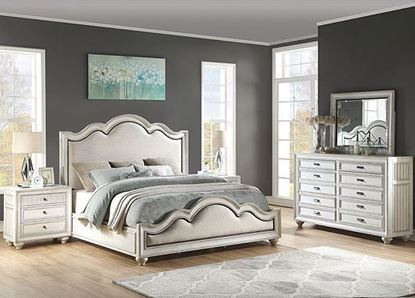 Harmony Bedroom Collection with Upholstered Bed from Flexsteel furniture