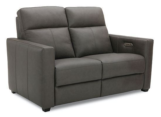 Broadway Power Reclining Leather  Loveseat with Power Headrest 1032-60PH from Flexsteel furniture