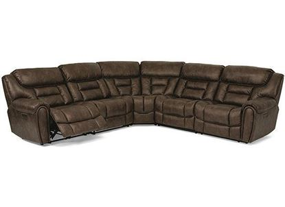Buster Reclining Sectional with Power Reclining Headrest 1880-SECTPH from Flexsteel furniture