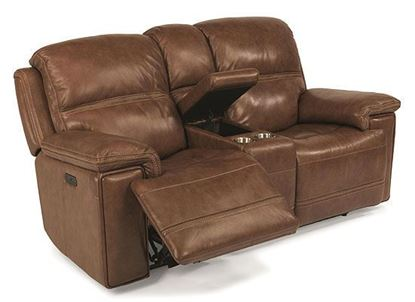 Fenwick Power Reclining Loveseat with Console 1659-64PH from Flexsteel furniture