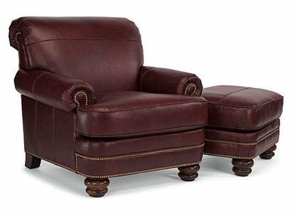 Bay Bridge Leather Chair & Ottoman Model B3791-10 from Flexsteel furniture
