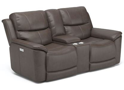 Cade Reclining Loveseat with Console 1183-64PH from Flexsteel furniture