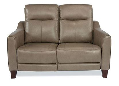 Forte Power Reclining Leather Loveseat with Power Headrests 1197-60PH from Flexsteel furniture