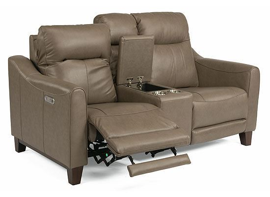 Forte Power Reclining Loveseat with Console 1197-64PH from Flexsteel furniture