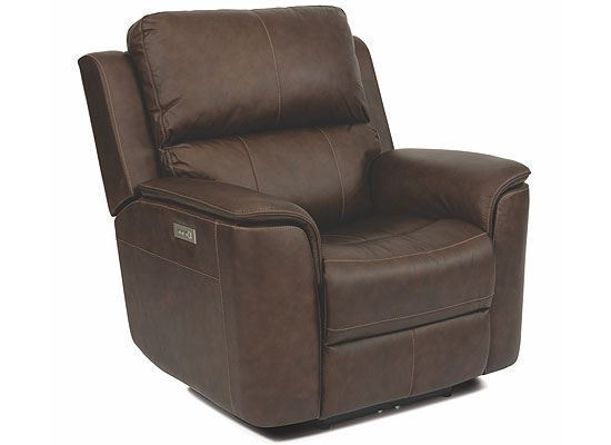 Henry Power Leather Recliner with Power Headrest and Lumbar 1041-50PH from Flexsteel furniture