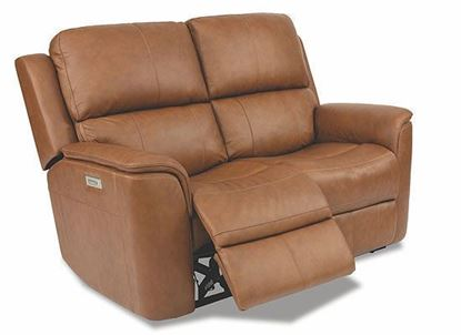 Henry Power Reclining Leather Loveseat with Power Headrests 1041-60PH from Flexsteel furniture