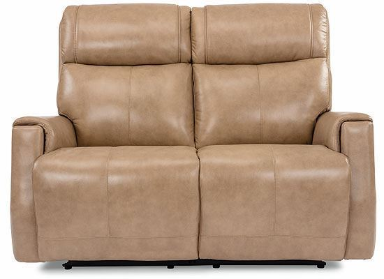 Holton Power Reclining Leather Loveseat with Power Headrests 1836-60PH from Flexsteel furniture