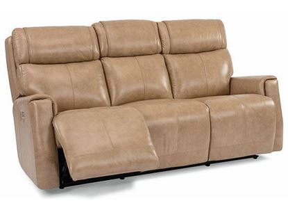 Holton Power Reclining Leather Sofa with Power Headrests 1836-62PH from Flexsteel furniture