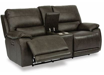 Horizon Power Reclining Loveseat with Console and Power Headrests 1933-64PH from Flexsteel furniture