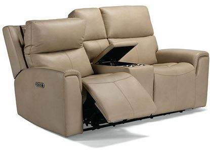 Jarvis Power Reclining Loveseat with Console and Power Headrests 1828-64PH