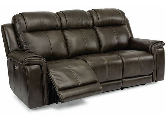 Kingsley Power Reclining Sofa with Power Headrests and Lumbar 1128-62PH from Flexsteel furniture