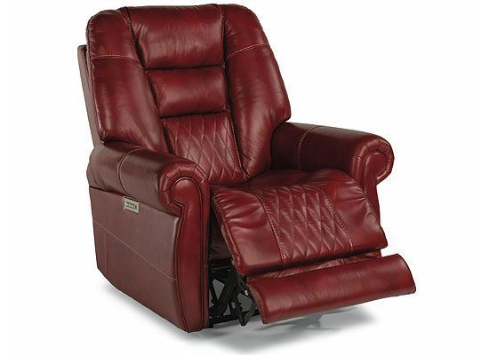 Maverick Leather Recliner with Power Headrest and Lumbar 1705-50PH from Flexsteel furniture